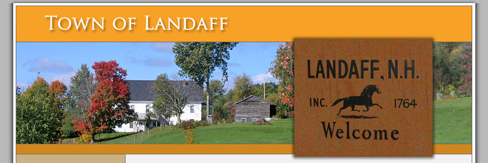 Town of Landaff Select Board Meetings header